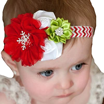 Christmas Headband For Baby Girl.Miugle Baby Girl Christmas Headbands With Bows 5wefj0901881