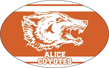 R and R Imports Inc Alice High School Coyotes Texas Sports Team Oval Car Fridge Magnet