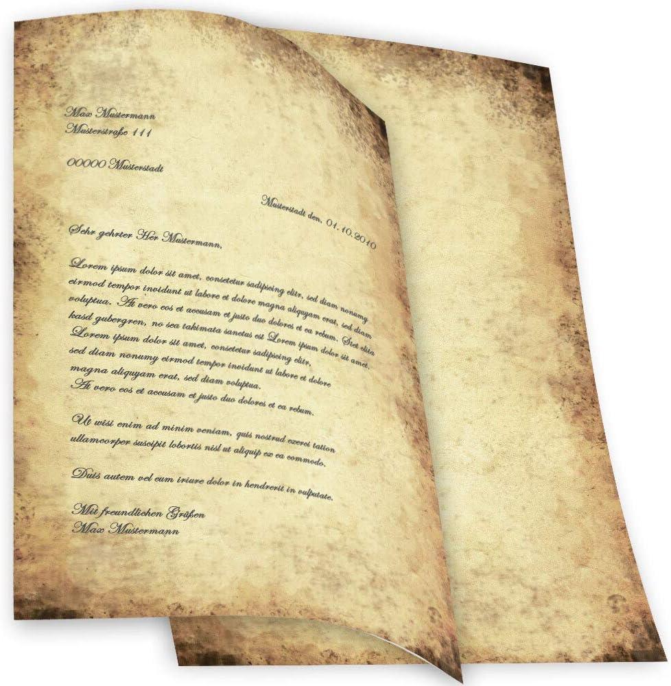 20 Blatt Briefpapier Motivpapier mit Hochzeits-Motiv NEU 20 100g//qm Einladung