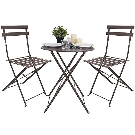3 piezas Bistro - Juego de muebles de jardín muebles de ...