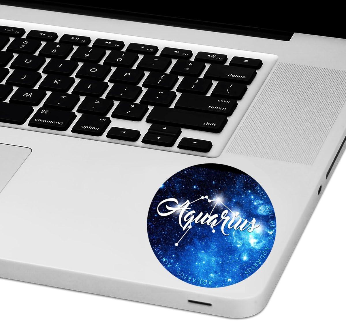 """Aquarius Zodiac Sign Laptop Trackpad Sticker 3"""" Tall x 3"""" Wide"""