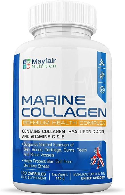 Complejo de Colágeno Marino | 120 Cápsulas Premium | Colágeno ...