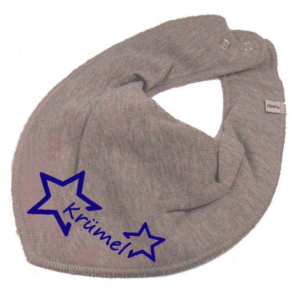 HALSTUCH Stern mit Namen oder Text personalisiert dunkelblau f/ür Baby oder Kind