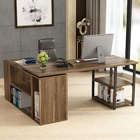 Escritorio de computadora en forma de L, escritorio de esquina ...