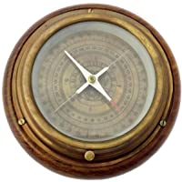 Kartique Antique Look Compass in Wood n Brass Antique Look -6 Inches