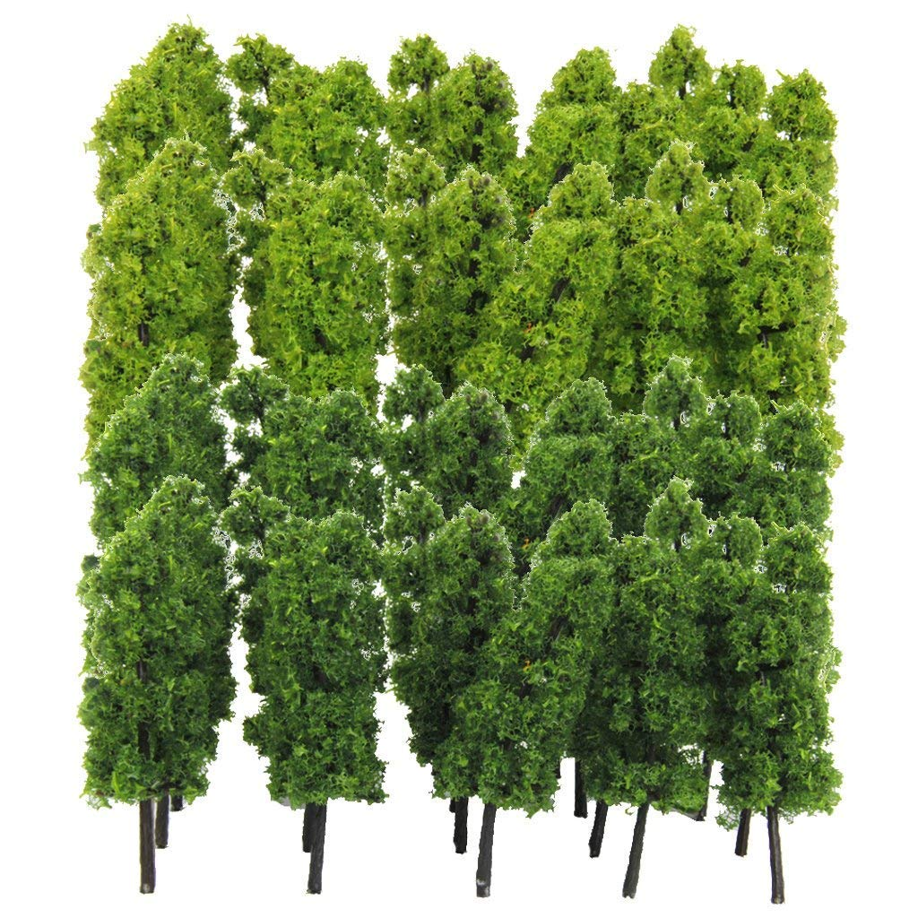 Pre-Built & Diecast Models Scenery Yundxi Pack of 40 Model Trees 1