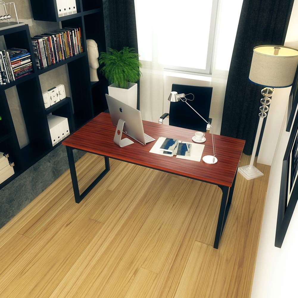 Computer Desk 47'', Modern Simple Style Desk for Home Office, Sturdy Writing Desk, Coleshome, Teak by Coleshome (Image #5)