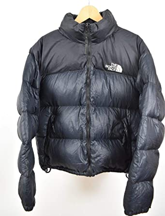 aace7c2d6d North Face Nuptse Black L Size Large 700 Down Puffa Coat Good Condition  Vintage  Amazon.co.uk  Clothing