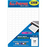 """Pack of 1008, 1/2"""" x 3/4"""" White Rectangle Labels, 8 1/2 x 11 Inch Sheet, Fits All Laser/Inkjet Printers, 144 Labels per…"""