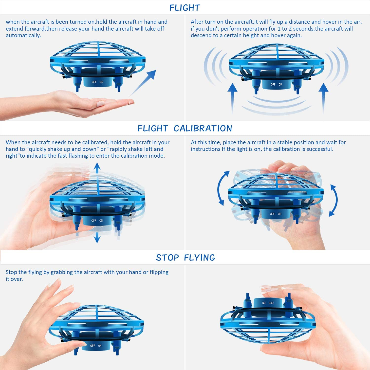 Interactive Infrared Induction Indoor Helicopter Ball with 360/° Rotating and Shinning LED Lights,Hand-Controlled Flying Ball Toys for 5 6 7 8 9 10 11 12 Years Hand Operated Drones for Kids or Adult