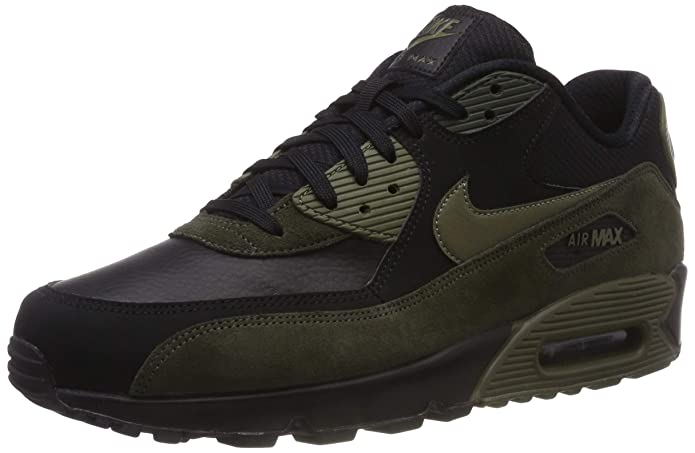 Nike Air MAX 90 Leather, Zapatillas para Hombre, Negro
