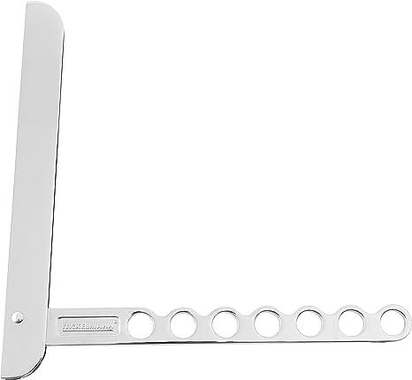 Fackelmann Gancho Plegable para Balcón o Armario, Percha Flexible para Colgar Ropa, 13 Prendas, Aluminio Plateado, 26,5x2,5cm, 1ud, INOX: Amazon.es: Hogar