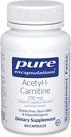 Pure Encapsulations Acetyl-l-Carnitine 250 mg | Memory Supplement for Brain, Focus, and Calmness* | 60 Capsules