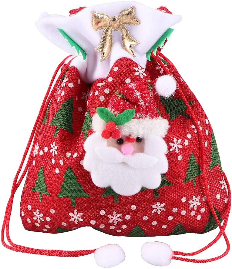 Christmas Xmas Decoration Santa Claus Large Sack Stocking Big Candy Gift Bag
