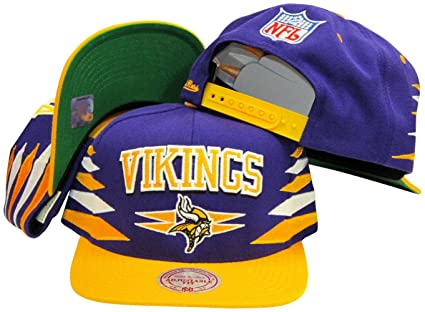 7e66b68c3 Image Unavailable. Image not available for. Color: Minnesota Vikings  Mitchell & Ness Throwback Diamond 2 Tone Adjustable Snapback Hat