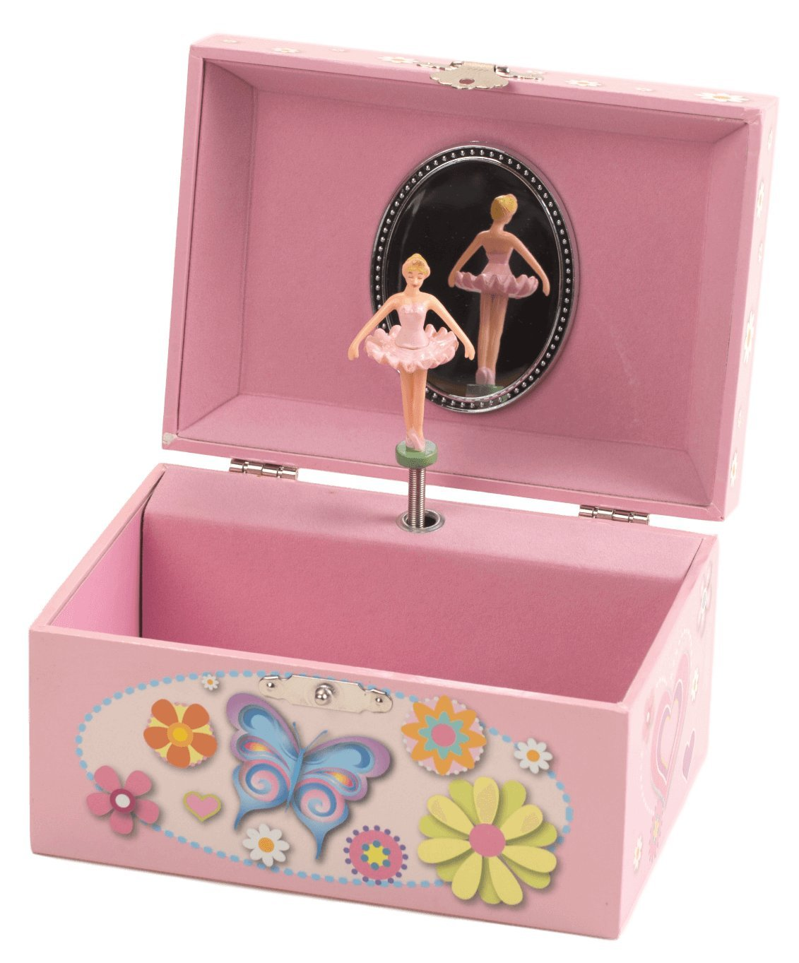 The San Francisco Music Box Company Butterfly Keepsake Musical Jewelry Box