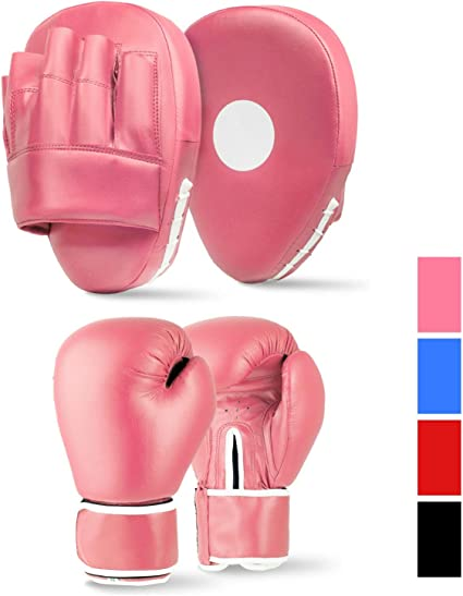 Lions Boys Boxing Gloves and Pads Set of Sparring Punching Mma Focus Hook /& Jab Training Mitts 4oz 6oz 8oz