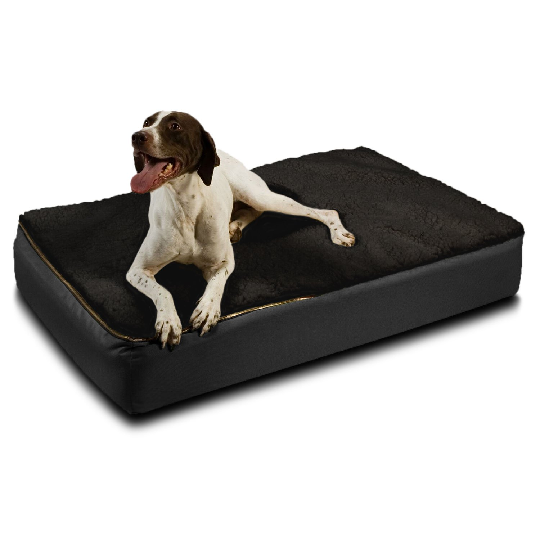 Extra large orthopedic dog beds best price - Amazon Com Snoozer Large Super Orthopedic Senior Dog Bed Black With Cream Sherpa Pet Beds Pet Supplies