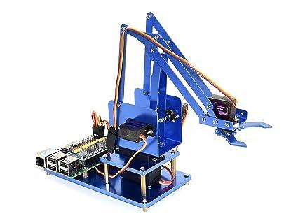 Amazon com: waveshare 4-DOF Metal Robot Arm Kits for