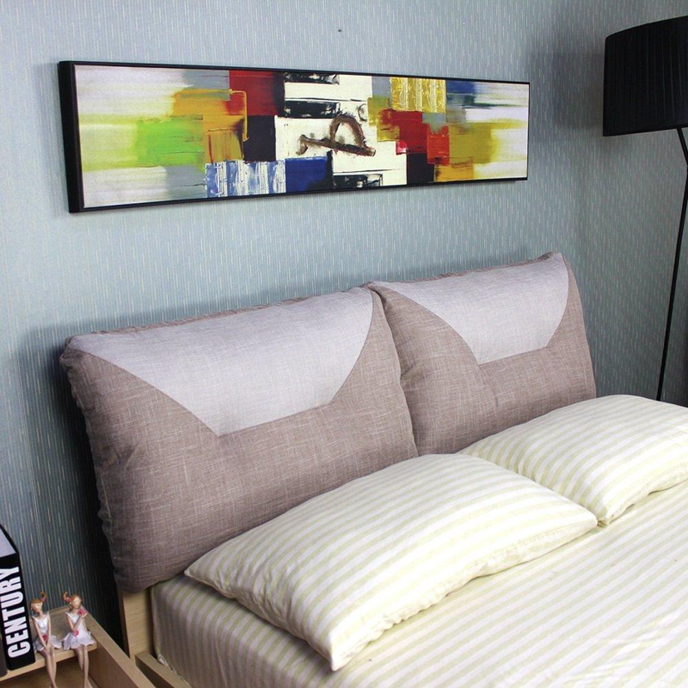 Kissen Leinen Bedside Kissen/Lendenwirbelkissen/TV Kissen Soft Bag (Farbe : 2 , größe : 180  60cm)