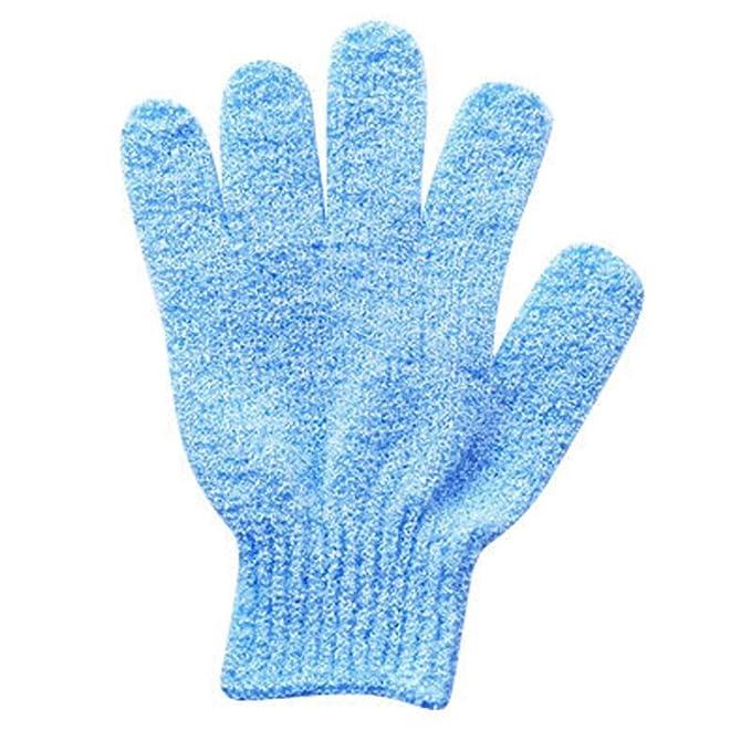 YJYdada 2Pair Bath Scrub mitt Gloves Massage Scrubber Shower wash Skin Spa Shower Tool Pink