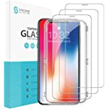 Syncwire iPhone XS/X Screen Protector [3 Packs], 9H Hardness HD Tempered Glass with Installation Frame for iPhone Xs/X [Face