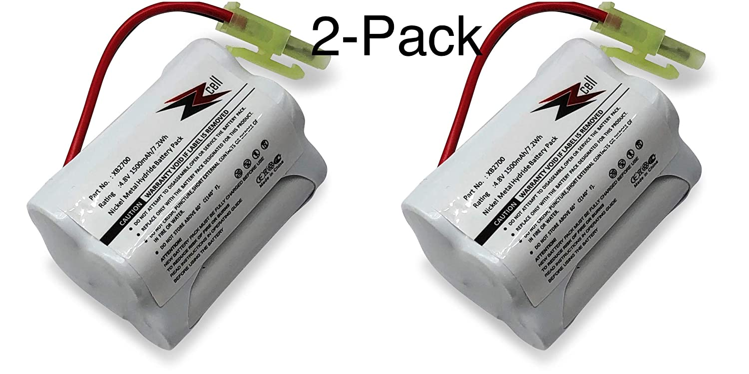 ZZcell 2-Pack Battery for Euro Pro Shark Vacuum Carpet and Carpet Sweeper XB2700, V2930, V2700Z, VAC-XB2700, V2700, 1500mAh (2)