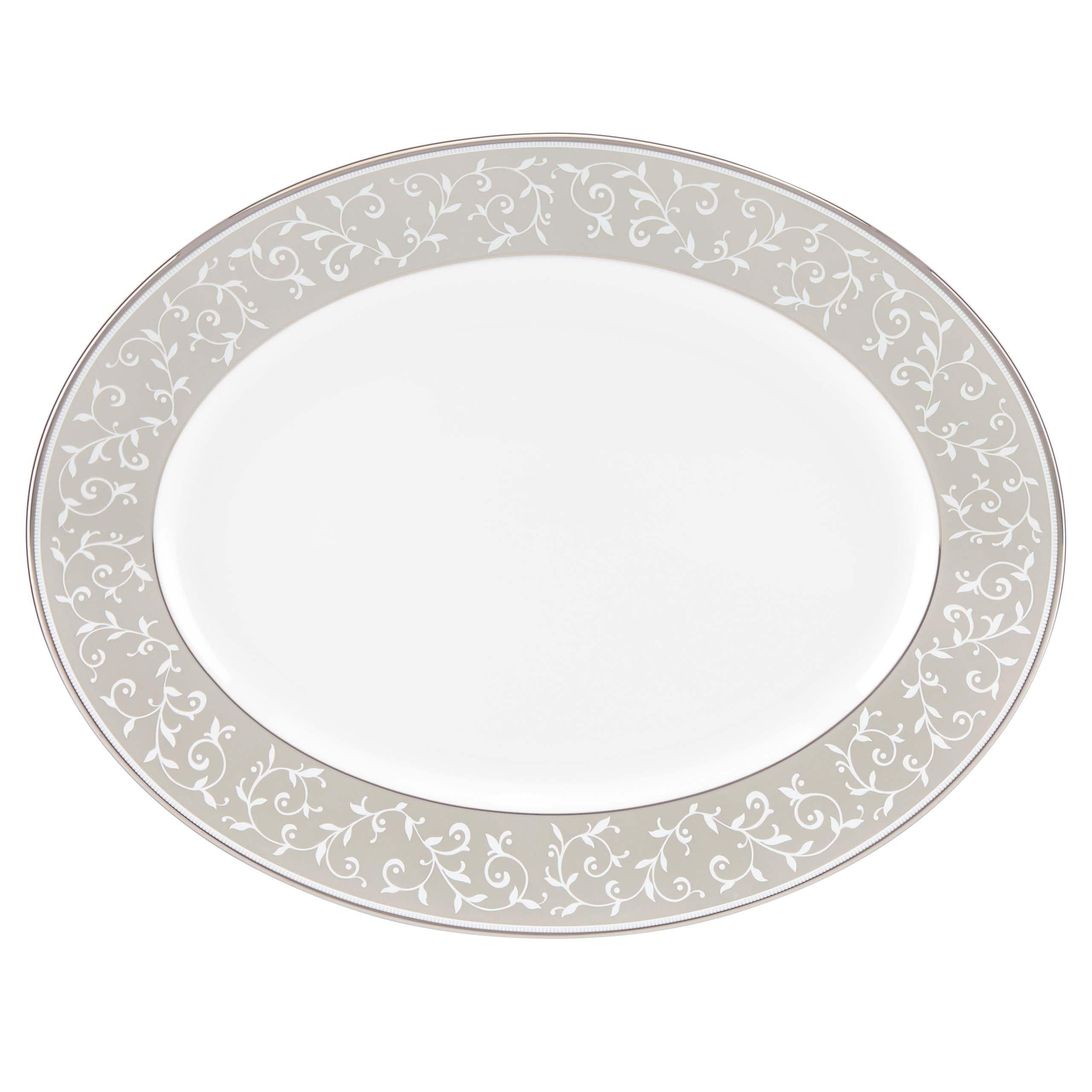 Lenox Opal Innocence Dune Oval Platter, White