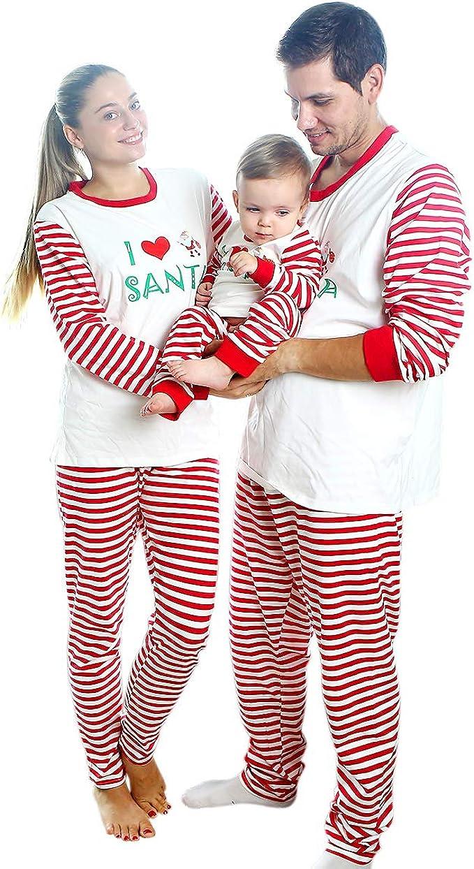 Baywell Famille Pyjamas Ensemble Pyjama de No/ël V/êtements de Famille