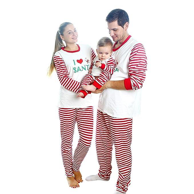 3af34c5b72 Baywell Pijamas Familiares de Navidad Conjuntos de Navidad para Mujer Hombre  Niños Bebés Niñas Pijamas de Navidad a Juego  Amazon.es  Ropa y accesorios