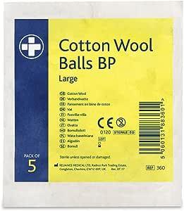 Amazon.com: Reliance REL360 Cotton Wool Ball BP, Sterile ...