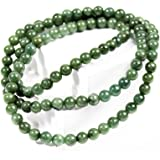 REGIS Lovely 7.5-8mm Jade Necklace,The Jade Beads are Green in Color,There are 108 Jade Beads.