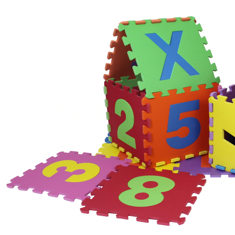 Glamexx24Puzzle Matte ABC–123, 10hasta 80Piezas Parte de Espuma, Esterilla Suelo frío Infantil Juego Alfombra Alfombra Fitness Alfombrillas 90120