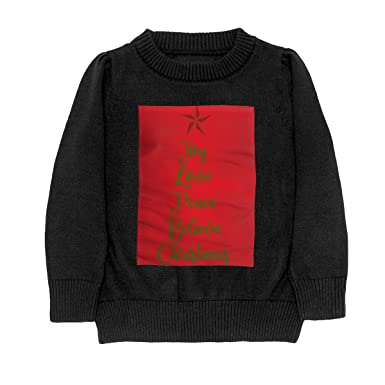 8a52d0140 Amazon.com  Joy Love Peace Believe Christmas 8 Knit Sweaters ...