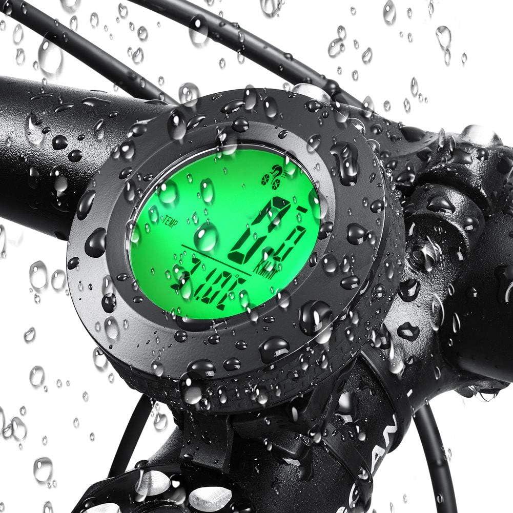 AORUNZHI Bicycle Computer Bicycle Speedometer Wireless Waterproof Stopwatch Odometer LCD Backlight Bicycle Accessories