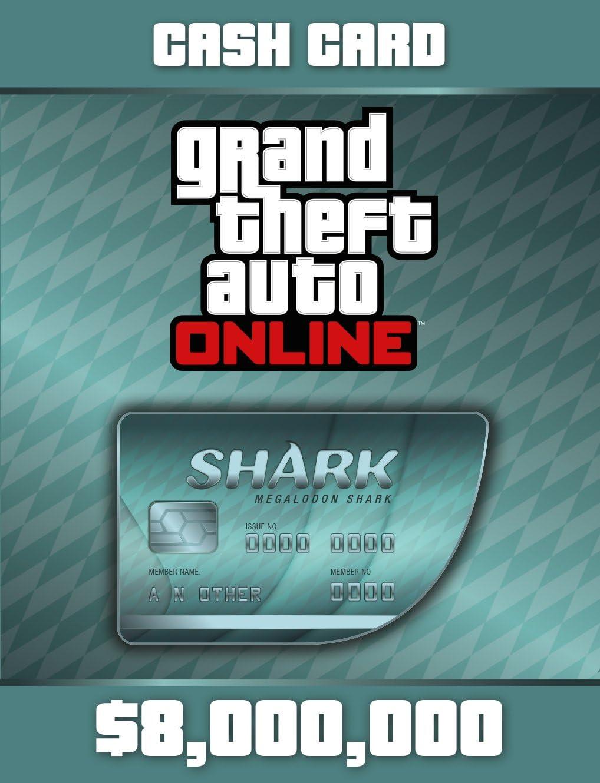 Amazon Com Grand Theft Auto V Megalodon Shark Cash Card Ps Digital Code Video Games