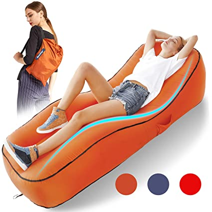 BEAUTRIP Tumbona Inflable para Interiores y Exteriores, Ideal para ...