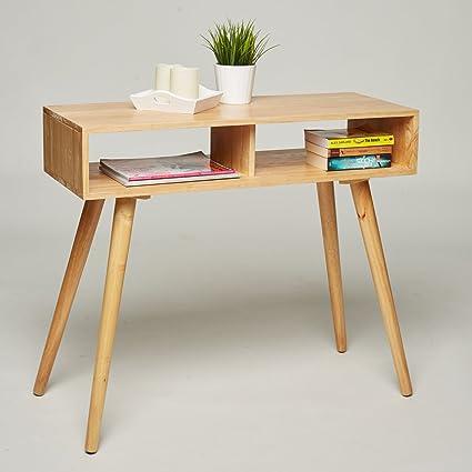Mesa consola/tocador/escritorio – madera de pino maciza – 90 x 35 x ...