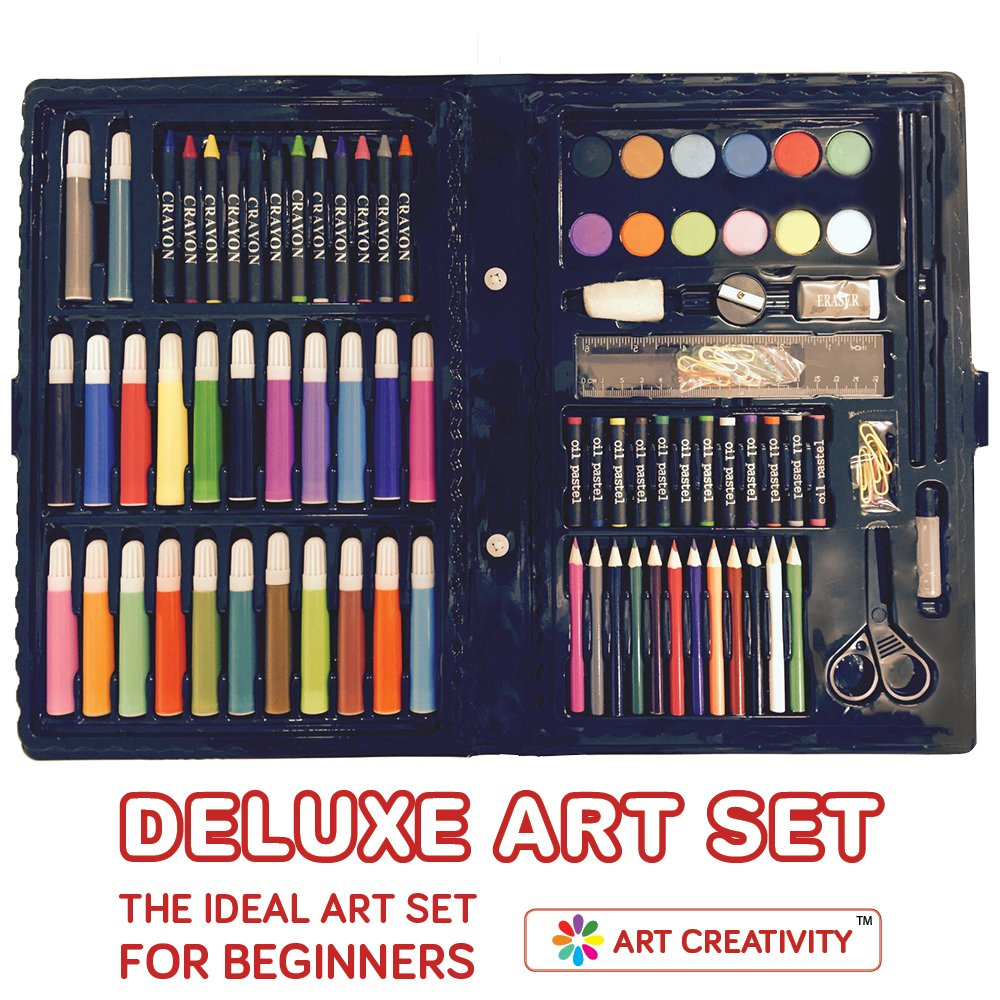 Amazon.com: Deluxe Art Set For Kids by ART CREATIVITY - Ideal ...
