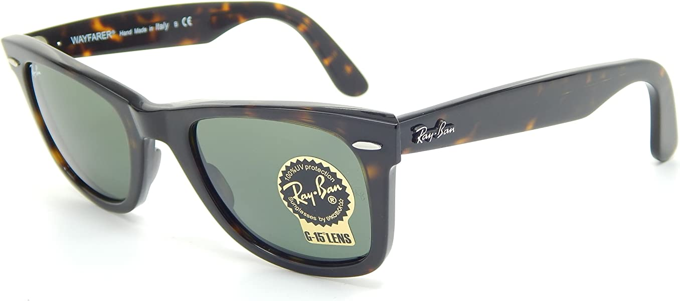 4b1ccbf84dc Amazon.com  Ray Ban RB2140 902 Wayfarer Tortoise G-15 XLT 50mm Sunglasses   Shoes