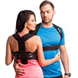 NEW Back Posture Corrector for Men and Women-Fully Redesigned Posture Brace for Maximum Comfort Thoracic Brace- Clavicle Support Man for Slouching & Hunching -Posture Support with Underarms Pads