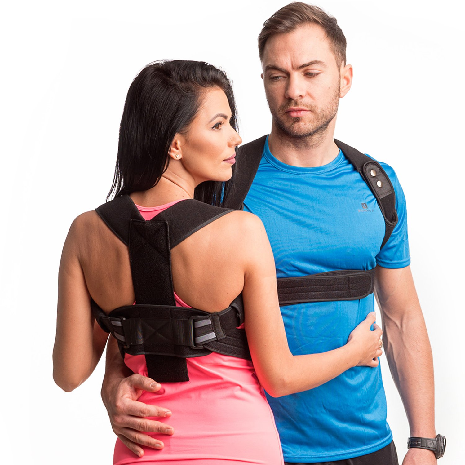 New Back Posture Corrector for Men and Women-Fully Redesigned Posture Brace for Maximum Comfort Thoracic Brace- Clavicle Support Man for Slouching & Hunching -Posture Support with Underarms Pads-XXL