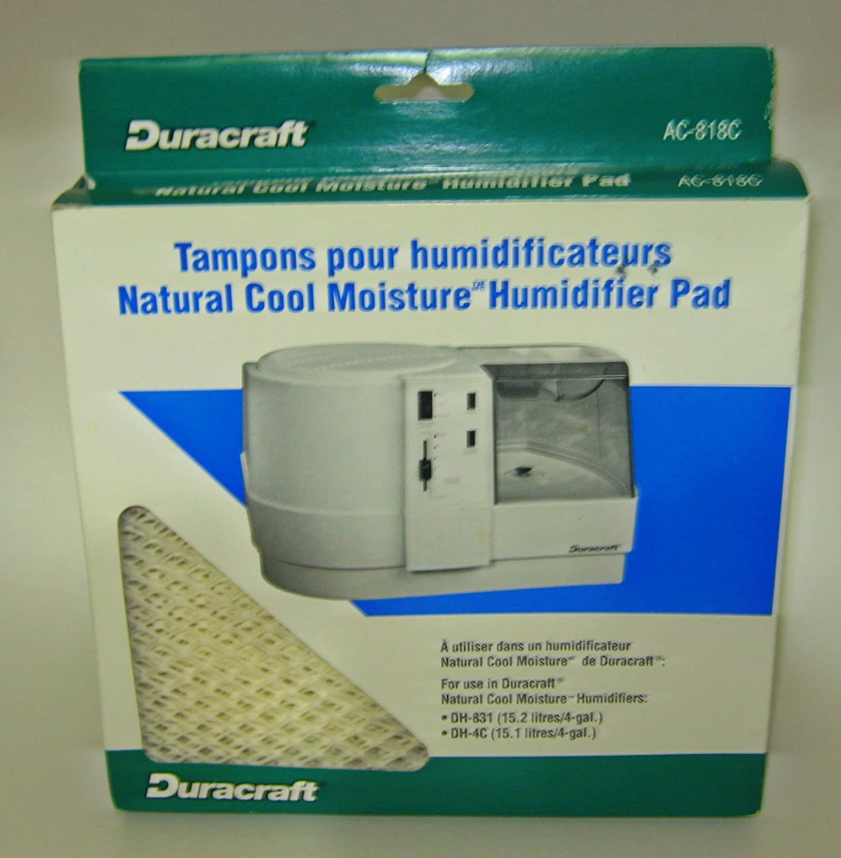 Duracraft Natural Cool Moisture Humidifier Pad AC 818C
