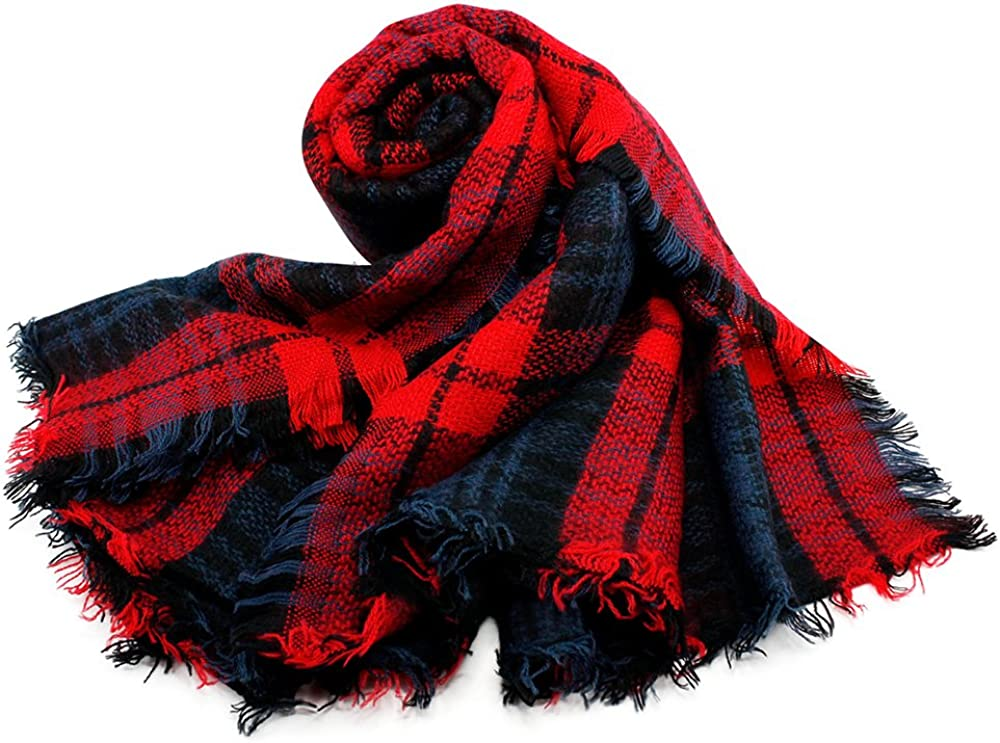 Oct17 Plaid Scarfs Pashmina...