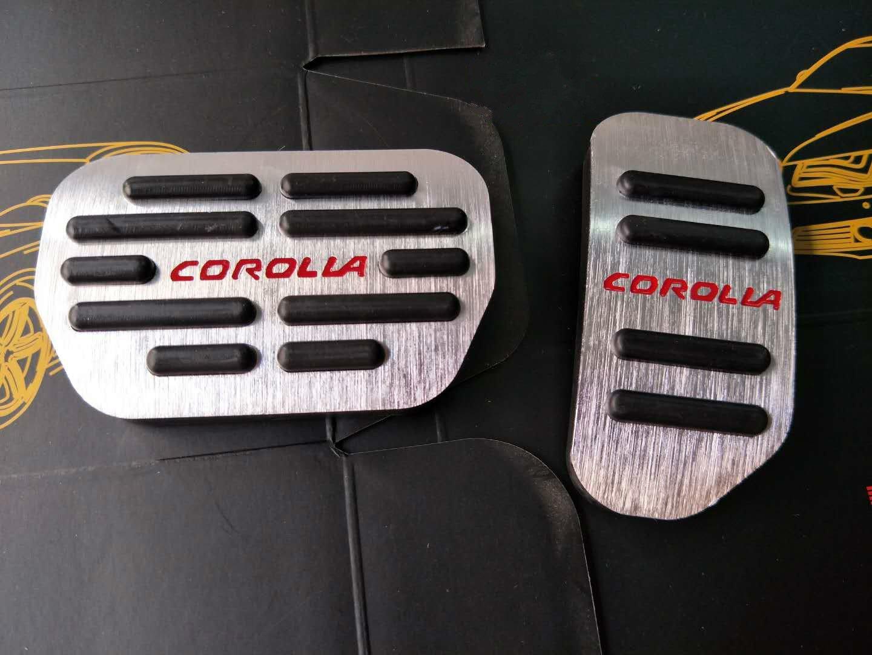 MyGone Automático Pedal Accelerator Freno Pedales para Corolla RAV4 AT Acero Inoxidable Juego de Pedales 2Pcs: Amazon.es: Coche y moto