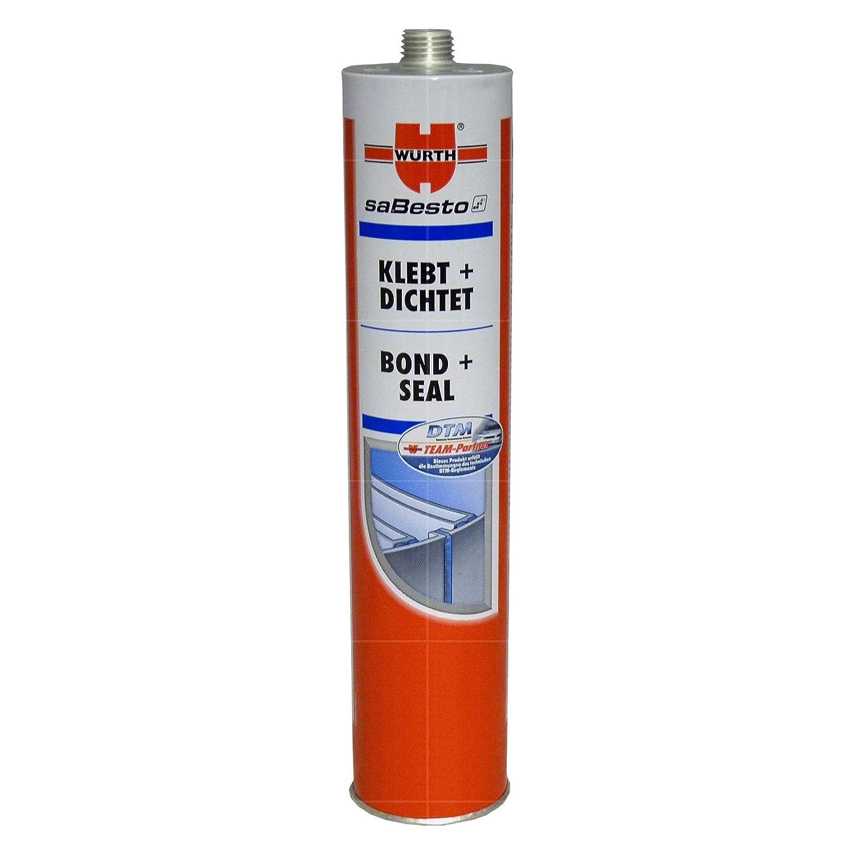Wurth - Adesivo sigillante 'Incolla + Sigilla' in poliuretano flessibile, 300 ml, colore: Nero
