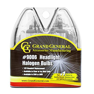 GG Grand General 82094 Clear Headlight (9006 Halogen Bulbs Twin Pack, 12V/80W): Automotive