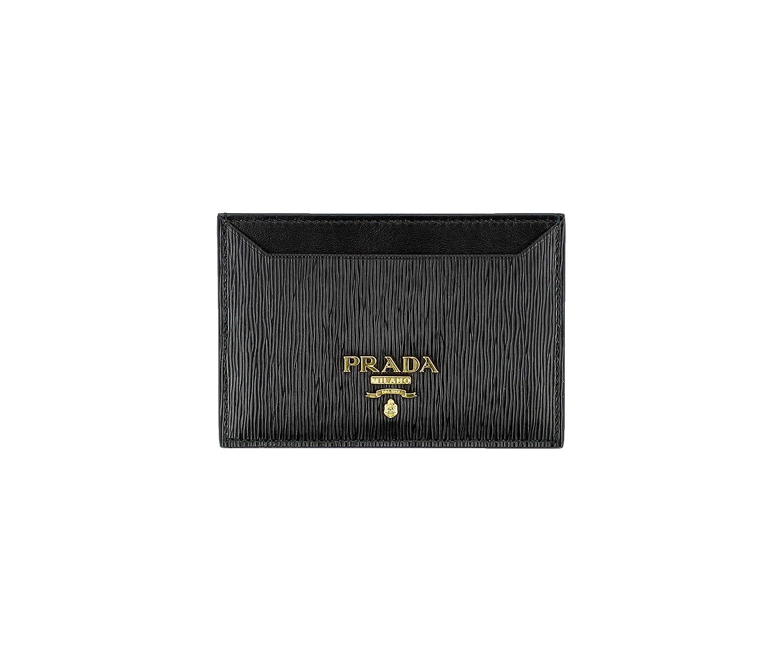 7757674d65f744 Prada Vitello 'Move' Signature Logo Plaque Card Case, Black (Nero) 1MC208  at Amazon Men's Clothing store: