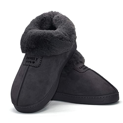 WOMENS LADIES DUNLOP BOOTS SLIPPERS WARM WINTER RELAX HOME FAUX FUR SHOES SIZE