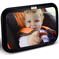 HOUSEDAY Baby Car Mirror | Most Stable | View Infant in Rear Facing Seat | 100% Lifetime Satisfaction Guarantee…